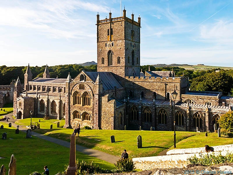 St David's cathedral, Pembrokeshire, photographed by Charles Hawes