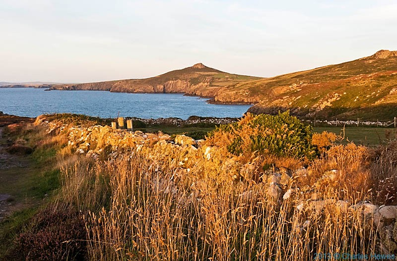 View to Carn Perfedd and Carn Penberry photographed  from The Wales Coast Path (Pembrokeshire Coast Path) by Charles Hawes
