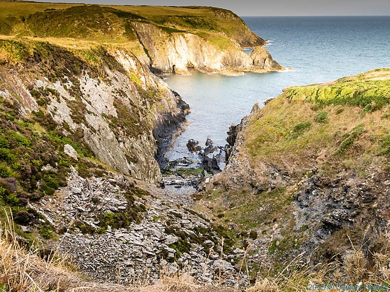 Aber Pwll, Pembrokeshire, photographed from The Wales Coast Path by Charles Hawes