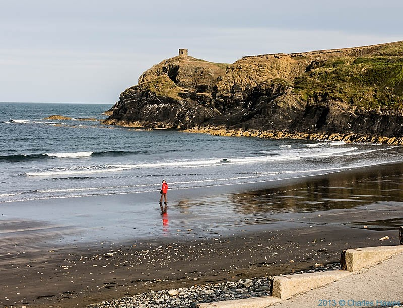 The beach at Abereiddy, photographed from The Wales Coast Path by Charles Hawes