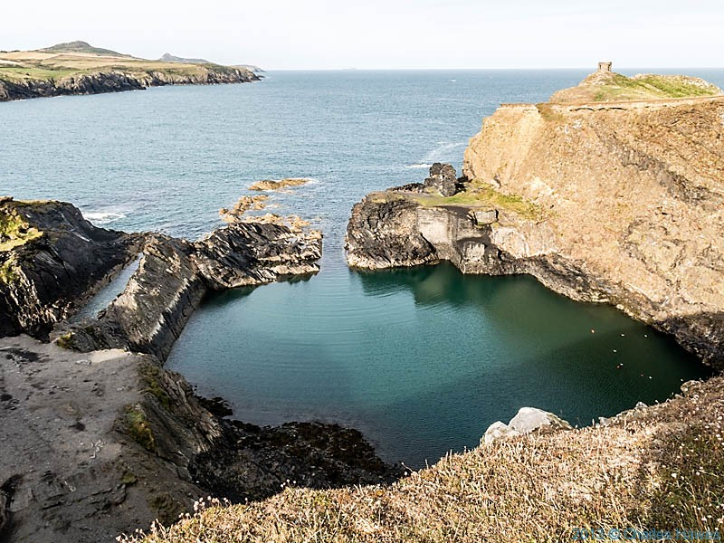 The Blue Lagoon, Abereiddy, Pembrokeshire, photographed from The Wales Coast Path by Charles Hawes