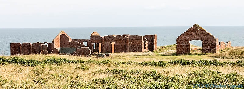 Ruins above Porthgain, photographed from The Wales Coast path by Charles Hawes