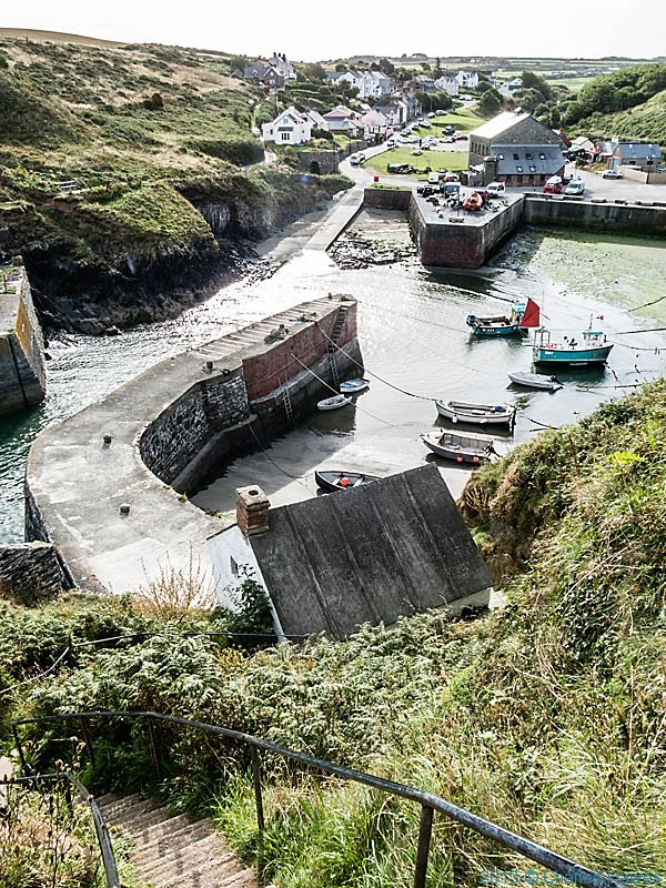 Porthgain,Pembrokeshire,  photographed from The Wales Coast Path by Charles Hawes