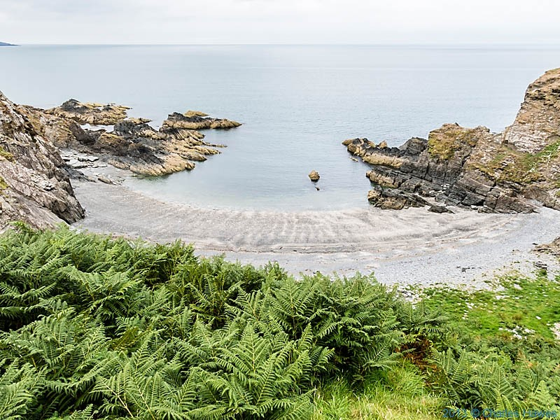 Pwll Gwylog, Pembrokeshire, photographed from The Wales Coast Path by Charles Hawes