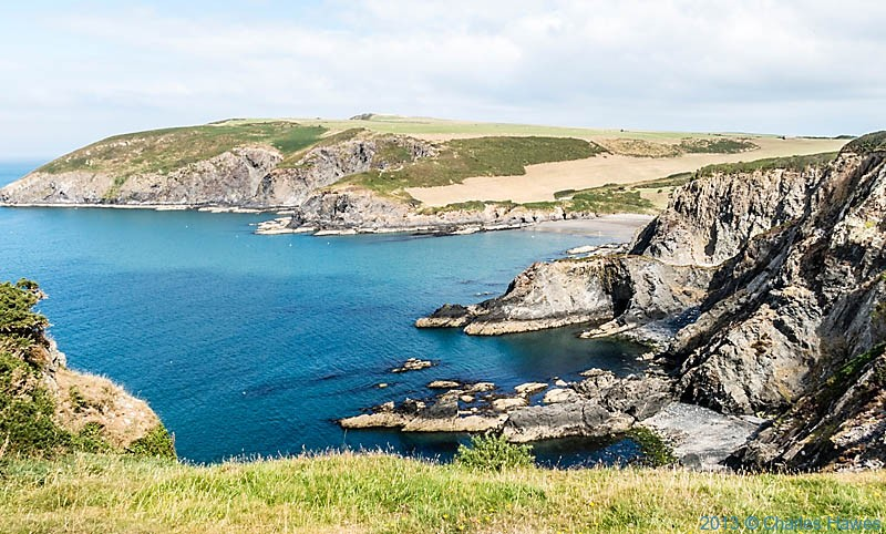 View of Dinas Island, photographed from the Wales Coast Path by Charles Hawes