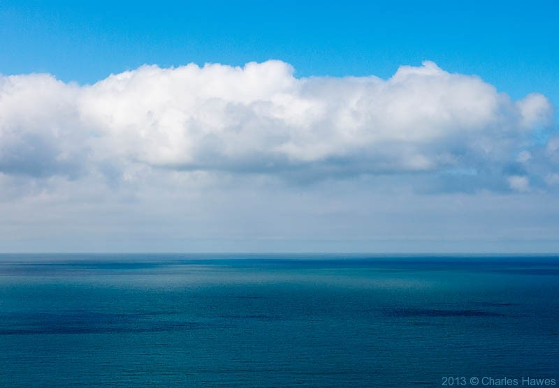 The Irish Sea off Dinas Head, Pembrokeshire photographed from The wales Coast Path by Charles Hawes