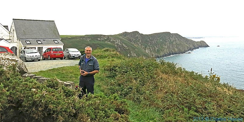 Charles Hawes at Pwll Deri Youth Hostel on The Wales Coast Path in Pembrokeshire