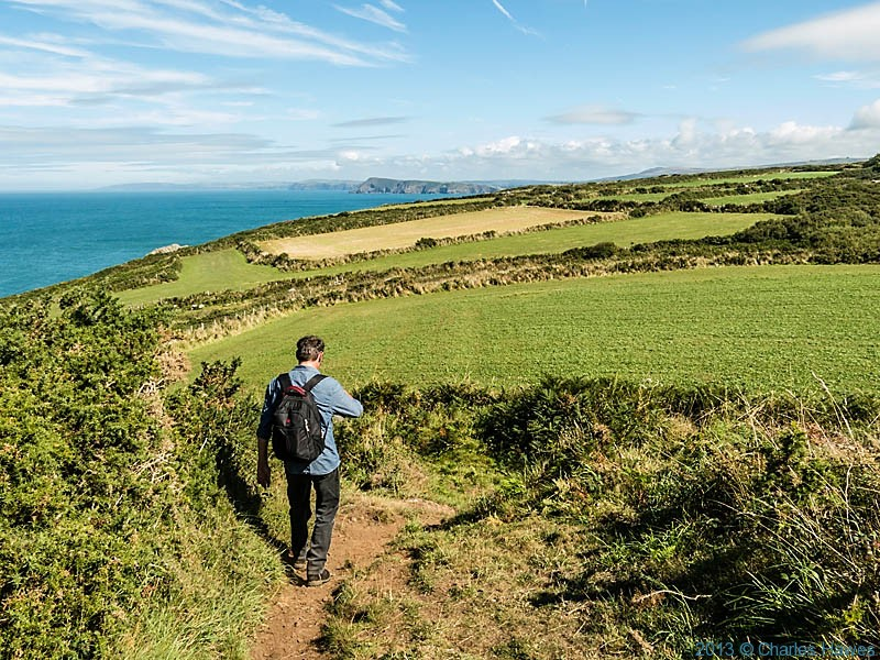 The Wales Coast Path near Crincoed Point photographed by Charles Hawes