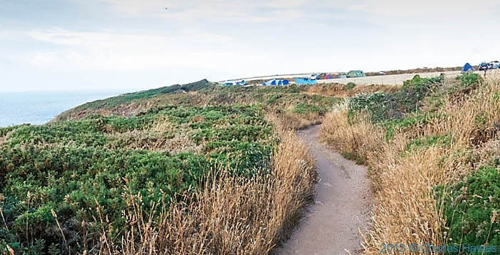 Wales Coast path near Portclais, Pembrokeshire, photographed by Charles Hawes