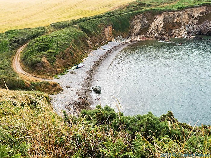 Porthlysgi Bay, Pembrokeshire, photographed from The Wales Coast path by Charles Hawes