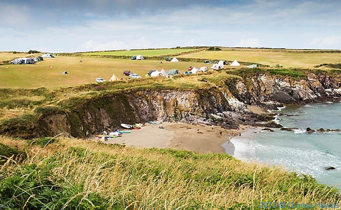 Beach at Porthselau, Pembrokeshire, photographed from The Wales Coast path by Charles Hawes