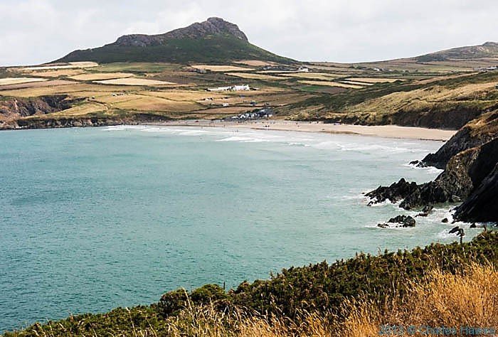 Whatesands Bay, Pembrokeshire, photographed from The Wales Coast Path by Charles Hawes