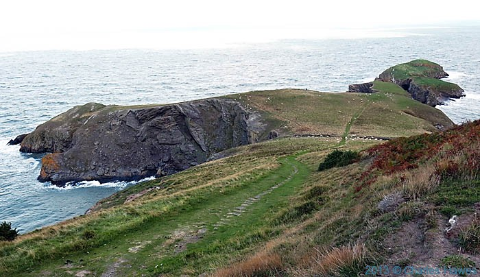 Yns Lochtyn, Ceredigion, photographed from The Wales Coast Path by Charles Hawes