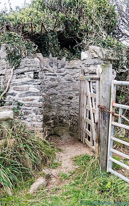 Unusual stone kissing gate near Llansantffraed taken on The Wales Coast Path in Ceredigion by Charles Hawes