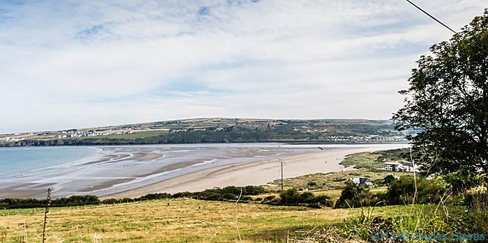 Poppit sands, photographed from The Wales Coast apth by Charles Hawes