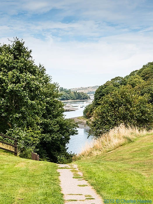 View of the River Teifi, photographed from The Wales Coast path in St Dogmaels by Charles Hawes