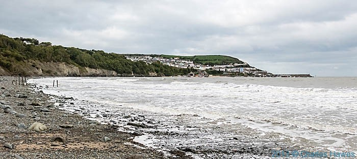 The Beach at New Quay Bay, on the Wales Coast Path in Ceredigion, photographed by Charles Hawes