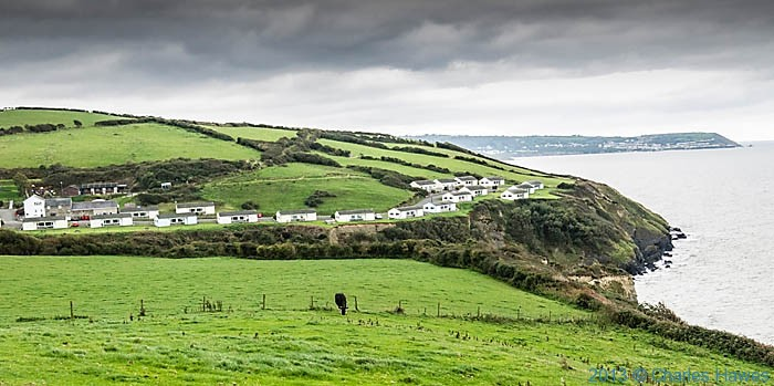 Gilfach yr Halen Holiday village, photographed from The Wales Coast Path by Charles Hawes