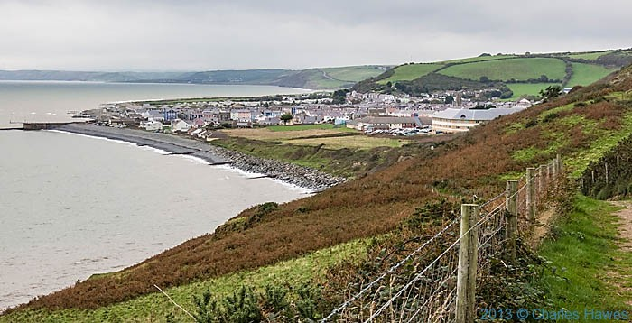 View to Aberaeron photographed from the Wales Coast path in Ceredigion by Charles Hawes