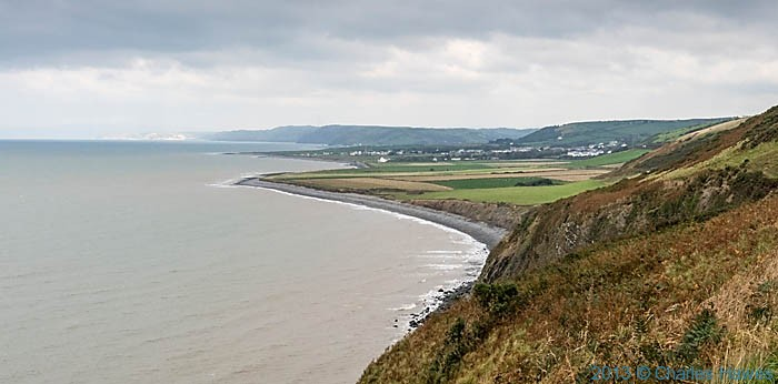 View to Llansantffraed (and Aberystwyth) photographed from The Wales Coast Path in Ceredigion by Charles Hawes