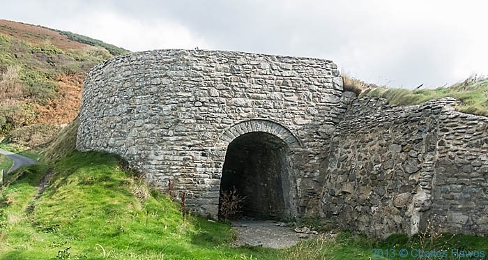 Restored lime kiln by the beach at Cwmtydu, Ceredigion, photographed from The Wales Coast path by Charles Hawes