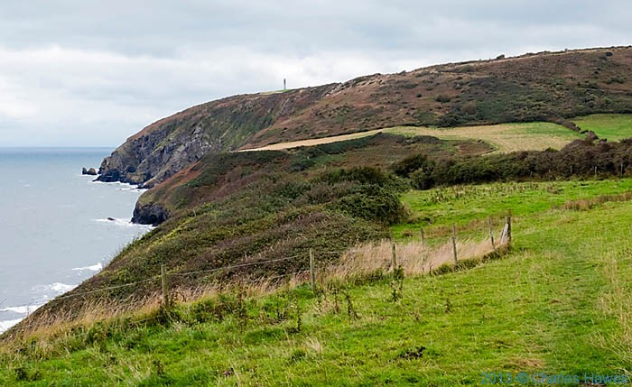 View north along the Ceredigion Coast Path from near Tresaith, photographed by Charles Hawes