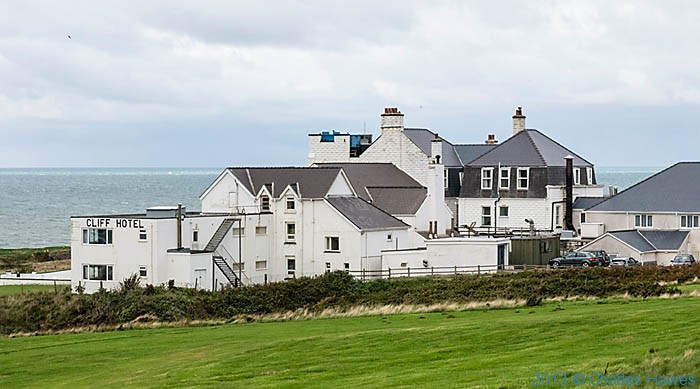 The Cliff Hotel at Gwbert, photographed from The Wales Coast Path by Charles hawes
