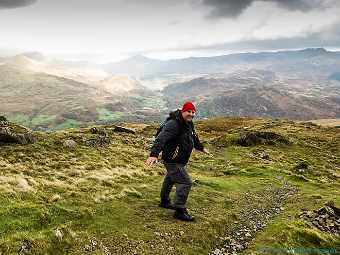 The path up Moel Hebog, Snowdonia, photographed by Charles Hawes