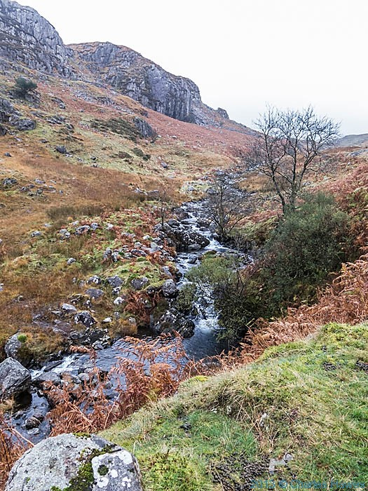 View to Castell, Snowdonia, photographed by Charles Hawes