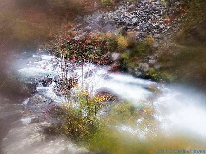 Afon Glaslyn near Beddgelert, Snodonia, photographed by Charles Hawes