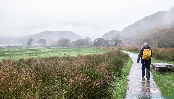 Path near river Glaslyn Beddgelert, photographed by Charles Hawes