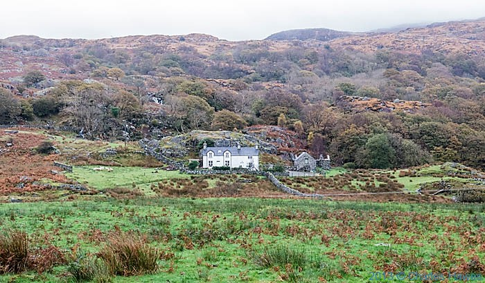 View to property called Llwynyrhwch, Near Beddgelert, Snowdonia, photogrphed by Charles Hawes