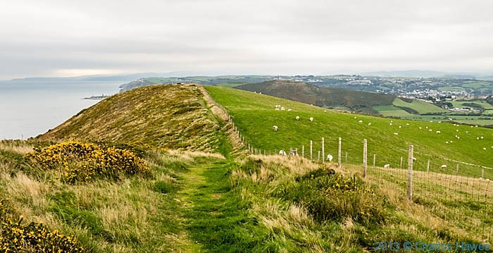 Wales Coast Path approaching Aberystwyth from the south, photographed by Charles Hawes