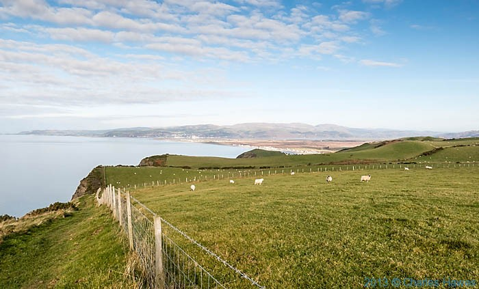 View to Aberdovey and the estuary photographed from The Wales Coast path in Ceredigion by Charles Hawes