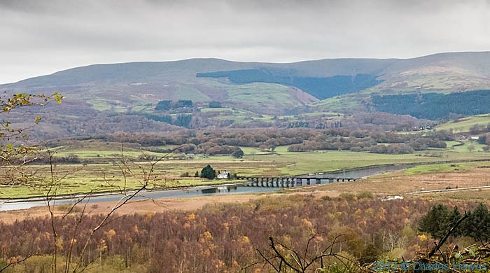 View over Dovey Junction from Garreg Woods in Ceredgion, photgraphed by Charles Hawes
