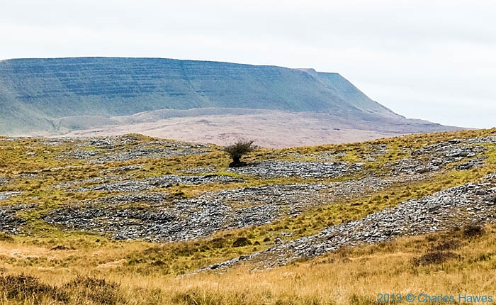 View to Fan Hir from near Fan Gyhirych in the Brecon Beacons National Park