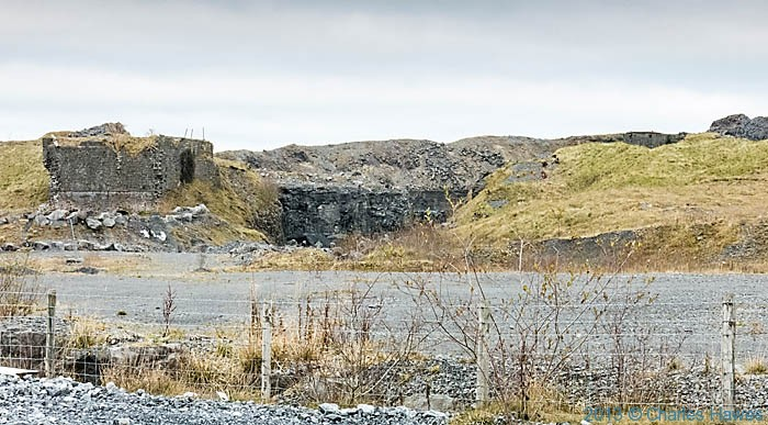 Penwyllt quarry photographed by Charles Hawes