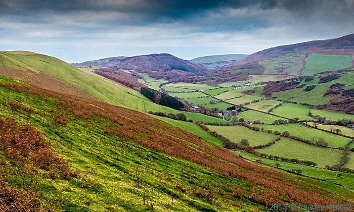 View over Happy Valley near Aberdovey photographed from The wales Coast Path by Charles Hawes
