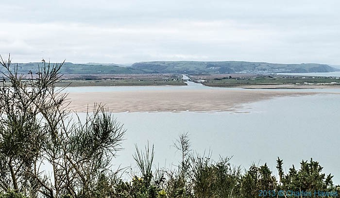 View over the Dyfi estuary towards Borth taken from The Wales Coast path by Charles Hawes