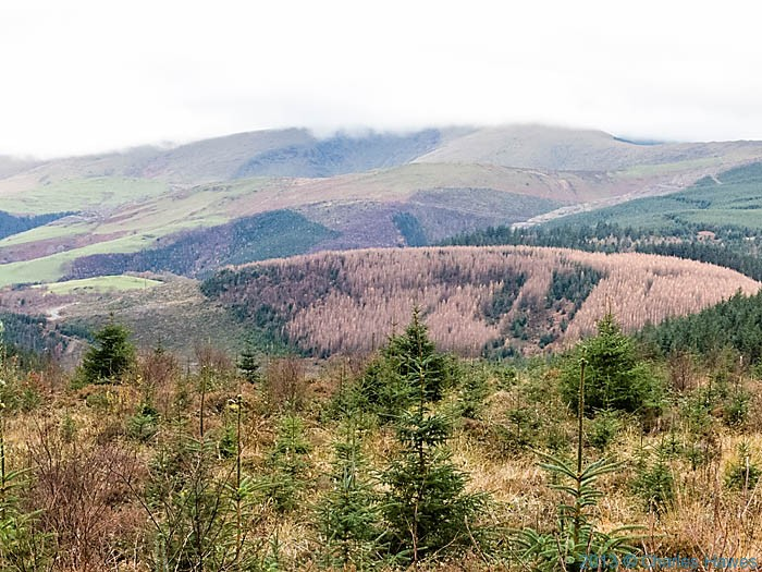 View from Foel Goch near Machynlleth photographed from The Wales Coast Path by Charles Hawes