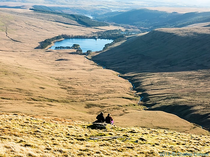 view over Upper Neuadd reservoir from Pen-Y-Fan, Brecon Beacons National Park, photographed by Charles Hawes