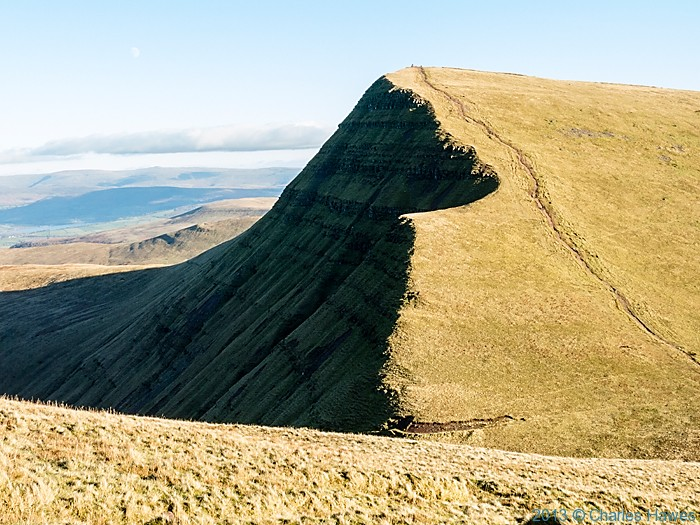 Cribyn from Pen-Y-Fan, Brecon Beacons National Park, photographed by Charles Hawes