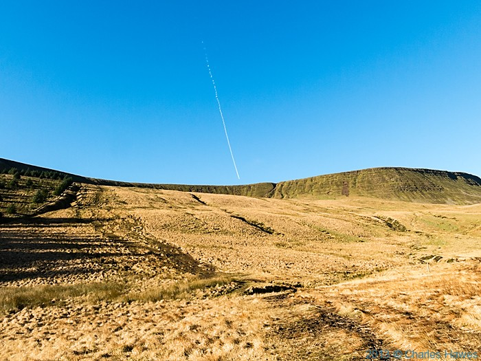 Path ascending on the west side of the Neuadd reservoir, Brecon Beacons National Park, photographed by Charles Hawes