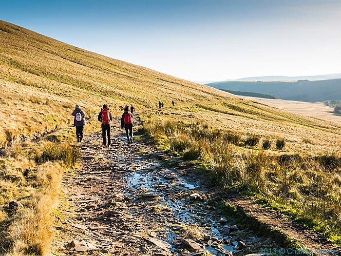 The Gap road below Cribyn, Brecon Beacons National Park, photographed by Charles Hawes