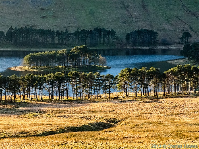 View over Upper Neuadd reservoir from The Gap road, Brecon Beacons National Park, photographed by Charles Hawes