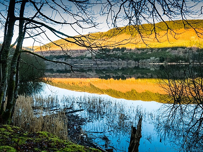 Reservoir above Pontsticill, Brecon Beacons National Park, photographed by Charles Hawes