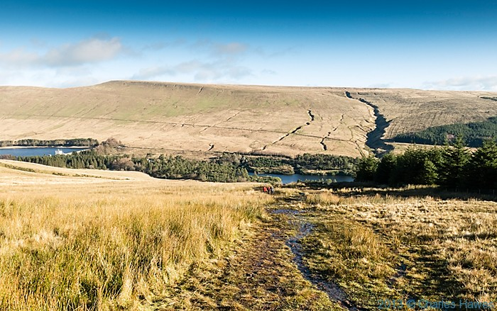 View over the Lower Neuadd reservoir, Brecon Beacons National Park, photographed by Charles Hawes