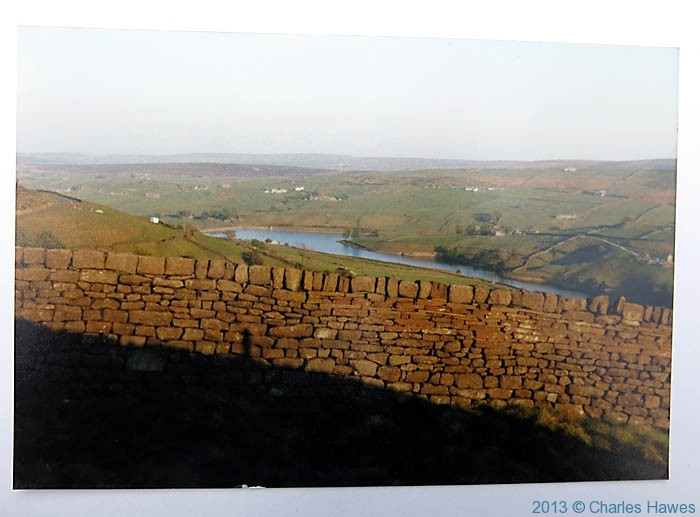 Ponden reservoir near Howarth, photographed from The Pennine Way by Charles Hawes