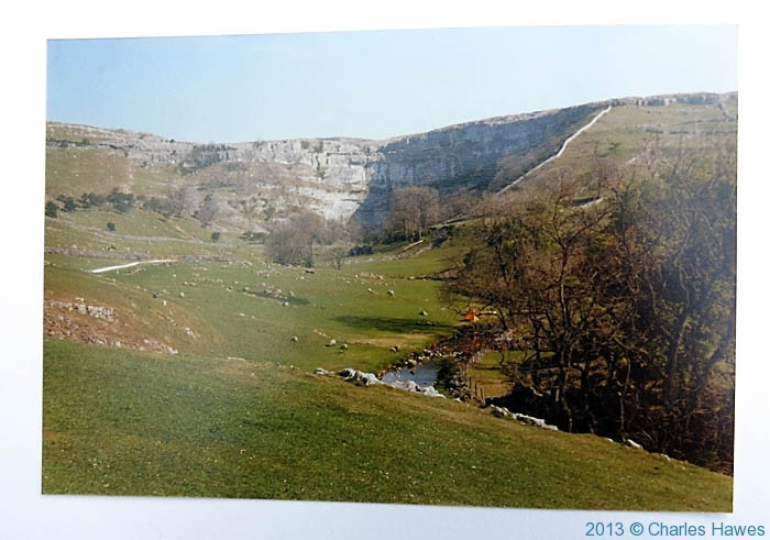 Malham Cove, photographed from The Pennine way in 1980 by Charles Hawes