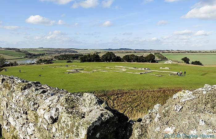 View of the old catherdral at Old Sarum, Wiltshire, photographed by Charles Hawes